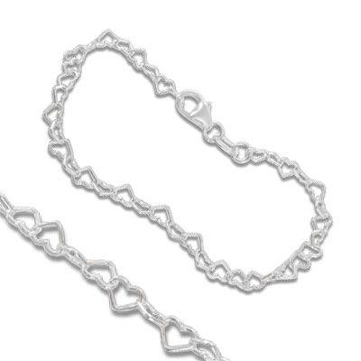 Kinderarmband Herzen 925 Silber 3,1 mm 14 cm