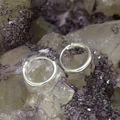 Creolen 925 Silber 10 mm Mini-Creolen für Damen Herren und Kinder