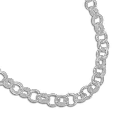 Charm Armband 925 Silber 4 x 4 mm 19 cm