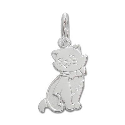Silberanhänger Katze 925 Silber