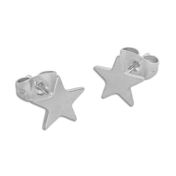 Stern Ohrstecker Edelstahl Ohrringe für Damen und Herren