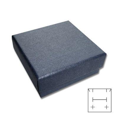 Schmuck-Verpackung Schachtel universal grau blau 50 x 50 x 25 mm