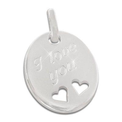 I love you Anhänger 925 Silber
