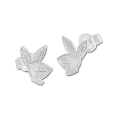 Hasenkopf Ohrstecker 925 Silber Ohrringe mit Hasen