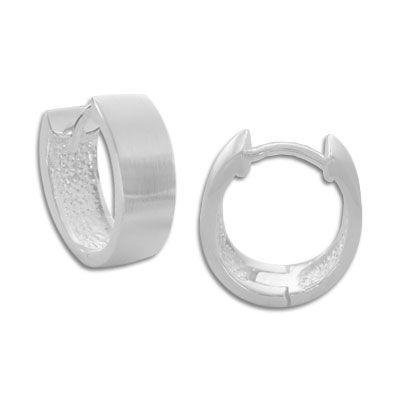 Creolen oval matt für Herren 925 Silber