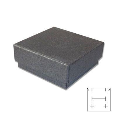 Schmuck-Verpackung universal schwarz grau 50 x 50 x 25 mm