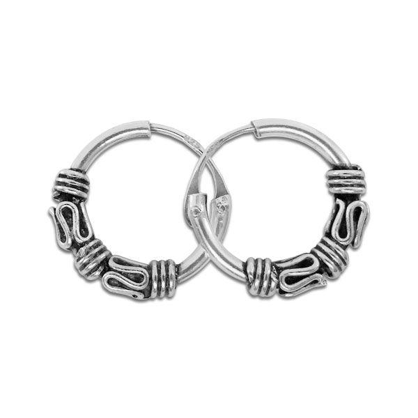 12 mm Creolen Bali 925 Silber Silberschmuck