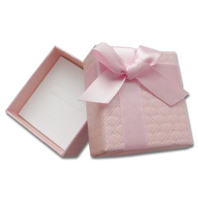 Etui für Schmuck rosa mit Prägung für Ketten und Ohrringe