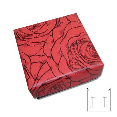 Schmuck Schachtel Rose rot 50 x 50 x 25 mm