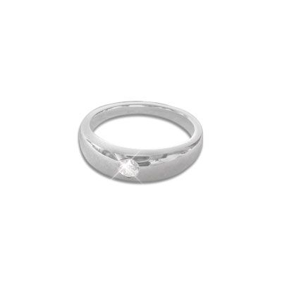Taufring mit Zirkonia 925 Silber