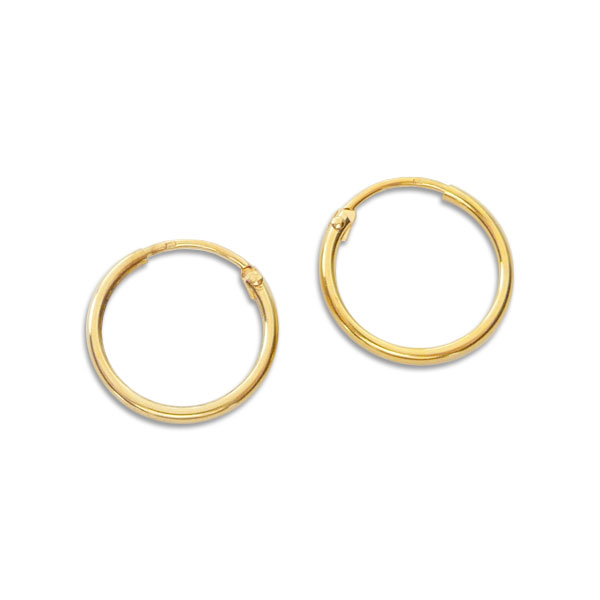333 Gold Creolen kleine Scharnier Creolen 12,2mm 1 Paar mit Zirkonia Steinen