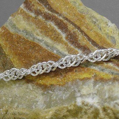 Singapur Armband 925 Silber 2 mm 19 cm