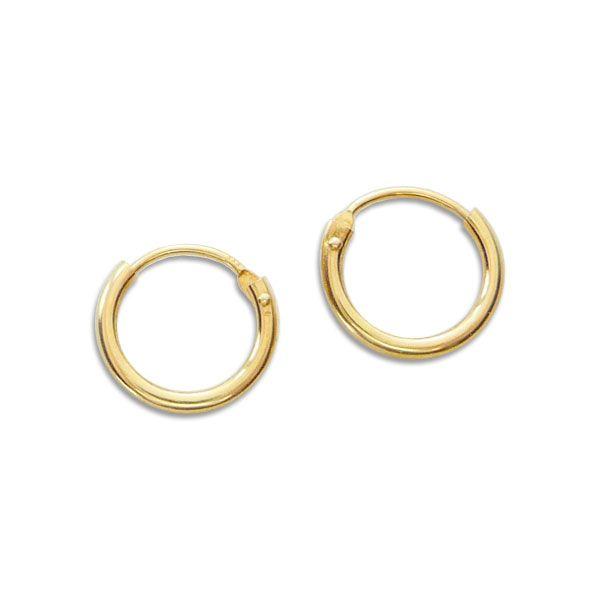 Creolen 333 Gold 11 mm Mini Draht-Creolen Ohringe für Damen Herren Kinder